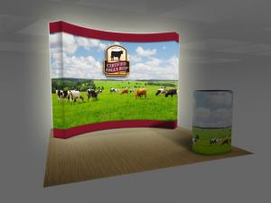 BACKLIT VBURST 10 ft. Curved Fabric Pop-up