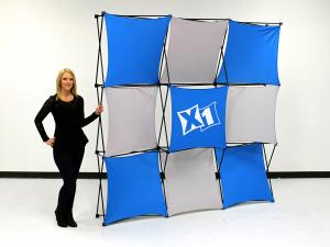 X1 8ft - 3x3 Q Fabric Pop-Up Display
