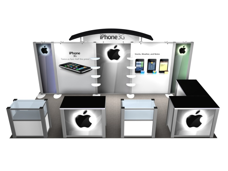 Exhibit Design Search RE 2020 IPhone Rental Displays